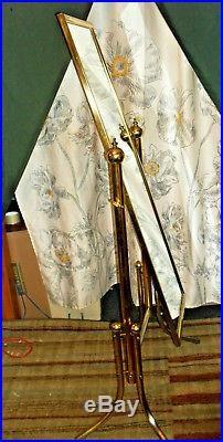Vintage Hollywood Regency Standing Dressing Mirror Mid Century Retro