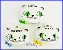 Vintage Holt Howard Cozy Kitten Cat Spice Rack Set 1959 Japan Rare