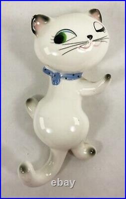 Vintage Holt Howard Cozy Kitten Wall Pocket Planter Key Holder Winking Cat 1960