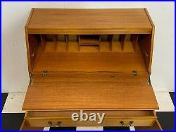 Vintage James Sutcliffe S-Form mid century style teak bureau cabinet Delivery