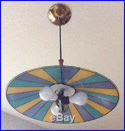 Vintage John C. Virden Hanging UFO Light Lamp Retro Mid Century Modern