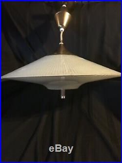 Vintage John C. Virden Hanging UFO Light Lamp Retro Mid Century Modern Big 21.5
