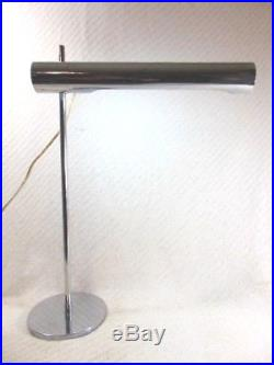 Vintage Koch & Lowy Mid Century Modern Retro Space Age Chrome Desk Lamp Light