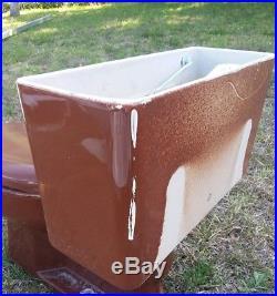Vintage Kohler Retro K 4520 WELLWORTH Brown Toilet Tank MID CENTURY MODERN