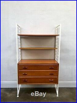 Vintage Ladderax Teak Shelving Bookcase Unit. Danish Retro Mid Century. DELIVERY