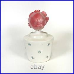 Vintage Lipper & Mann Flower Girl Ketchup Jar Holt Howard Pixieware Condiment