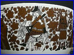 Vintage MCM Kaj Franck 8 Enameled Bowl Medieval Troubadour Finel/Arabia Finland