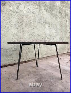 Vintage MCM MID Century Mosaic Tile End Table Hairpin Legs Side Plant Stand