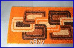 Vintage MCM Space Age Panton Carpet Rya Rug Modernist Geometric Colani Eames Era