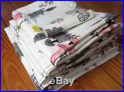 Vintage MID Century Mod Unused Fabric Curtain Panels Valance Retro Material