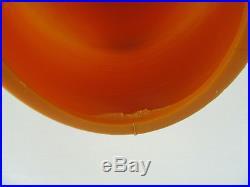Vintage MID Century Modern Tripod Orange Beehive Lamp Light Atomic Retro Light
