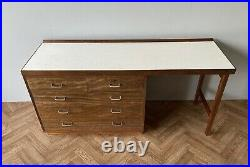 Vintage MID Century Remploy Large Military Utility Solid Wood Desk Uk Delivery