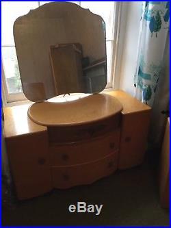 Vintage Majority Bedroom Furniture Set Retro Mid Century 1950s 40 Wardrobes Bed