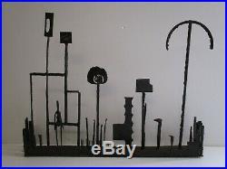 Vintage Metal Sculpture Large Abstract Brutalist Modernism MID Century Retro