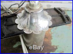 Vintage Mid Century Atomic String Wires Hanging Ceiling Swag Lamp Retro Cool
