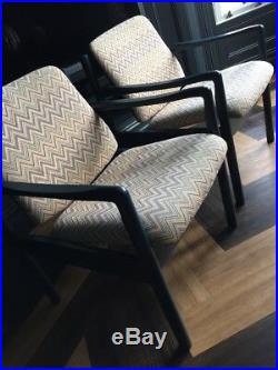 Vintage Mid Century Bentwood Armchairs Retro Pair