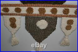 Vintage Mid Century/ Indian Tribal Handwoven Wall Hanging / Tapestry / Fiber Art