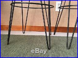 Vintage Mid Century Iron Hairpin Retro Barstools Thinline So. Cal 50's Boomerang
