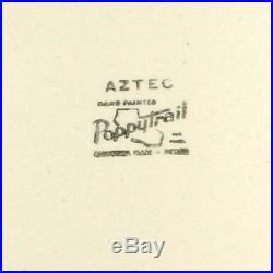 Vintage Mid Century Mod Retro Atomic Aztec Metlox Poppytrail Chop Plate 13
