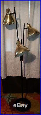 Vintage Mid Century Mod Retro Space Age Atomic Eames Cone Floor Lamp Pole 1950s