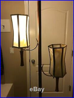 Vintage Mid Century Modern 1960s Tension Pole Floor Lamp Light Retro