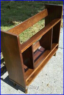 Vintage Mid Century Modern 28 Wood Floor Bookcase danish retro design deco art