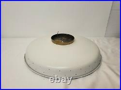 Vintage Mid Century Modern Atomic Light Virden UFO Light Lamp Retro 19 Saucer