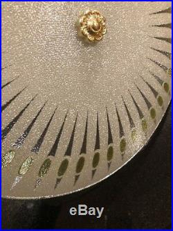 Vintage Mid Century Modern Atomic Starburst Ceiling Light Lamp 15 Retro Green