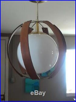 Vintage Mid-Century Modern Ceiling Mount Light Fixture Retro