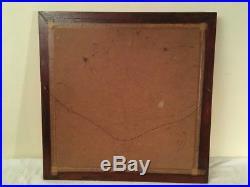 Vintage Mid Century Modern Geometric Abstract Painting Framed Retro Art
