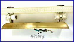 Vintage Mid Century Modern Retro Bathroom Vanity Sink Light Fixture 24.5 Gold