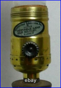 Vintage Mid Century Modern Retro Gilbert Girl Face Lamp Double Bulb Electric MCM