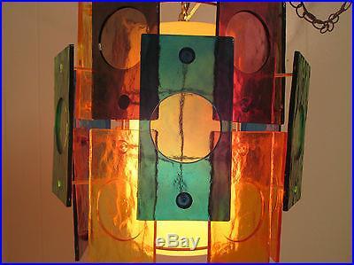 Vintage Mid Century Modern Retro Hanging Swag Lamp Light