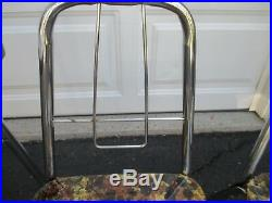 Vintage Mid Century Modern Retro Kids Child Size Formica Table 2 Chrome Chairs