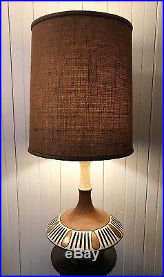 Vintage Mid Century Modern Retro Table Lamp Abstract Fortune Lamp Co 1962