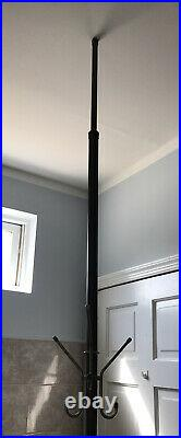 Vintage Mid Century Modern Tension Pole Coat Rack Hanger Brown MCM Atomic Retro