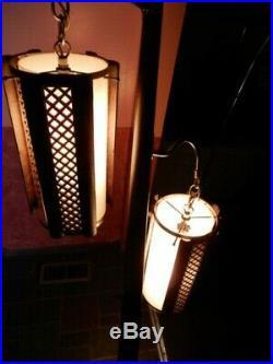 Vintage Mid Century Modern Tension Pole Lamp Retro