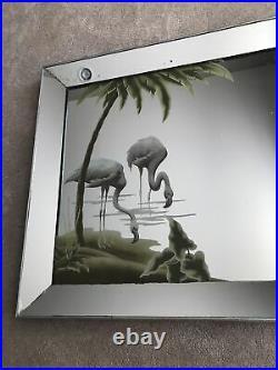 Vintage Mid Century Modern Turner Flamingo Wall Mirror 1950's 60's 27 X 40