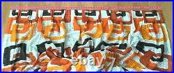 Vintage Mid Century Pinch Pleat Curtain (1) Retro 60's 70's Open Weave Fabulous