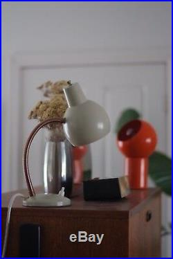 Vintage Mid Century RETRO Goose Neck Lamp, Unique colour Rare, Good Working Cond