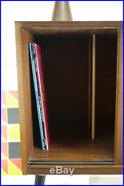 Vintage Mid Century Record LP Vinyl Cupboard Bedside Cabinet Sideboard Dansette