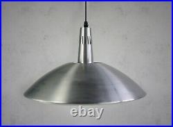 Vintage Mid Century Retro Aluminium Diffuser Ceiling Lamp Light Pendent 70s