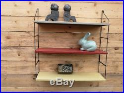 Vintage Mid Century Retro Industrial wall shelf Tomado Eames Mategot Era