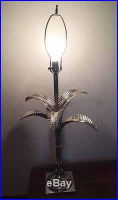 Vintage Mid Century Retro Palm Tree Table Lamp Removable Fronds Italy