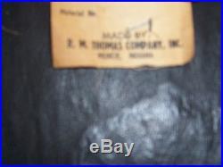 Vintage Mid Century Retro R. M. Thomas Company Vinyl Foot Stool Ottoman