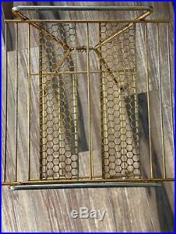 Vintage Mid Century Retro Starburst Wire Mesh Telephone Rack Magazine Stand