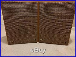 Vintage Mid Century THE FISHER KS-1 Speakers Slim Design Wood Den Lounge Retro