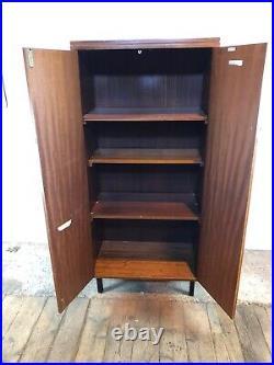 Vintage Mid Century Teak Cabinet Cupboard with Feet