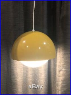 Vintage Mustard Yellow Dome Mid-Century Pendant Lamp Hanging Retro Modern
