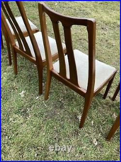 Vintage Nathan Mid Century Modern Dining Chairs Teak Retro